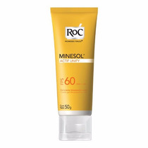 Roc Minesol Fps60 Actif Unify 50g Creme-gel Uniformizante