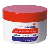 Kit C/3 Un. Creme Sebo De Carneiro Belladona C/uréia+silic.