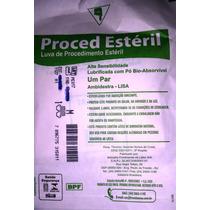 Luva Proced Estéril Tamanho M (200 Pares) - Cód Vm53