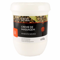 Dagua Natural Creme De Massagem Pimenta Negra 650g