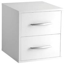 Criado Mudo Suspenso Branco -35x35x30 100% Mdf - Mv029