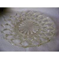 Prato Centro De Mesa Fruteira Antiguidade Cristal Excelente