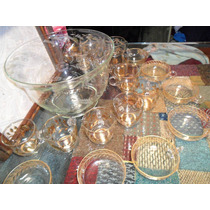 Poncheira Cristal Lapidada E 18 Taças Para Servir