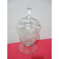 Poncheira Antiga De Cristal Lapidada - Tamanho 25 Cm