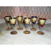 Taças Murano Valor Cada Copo Ouro 22kil - Jpgyn
