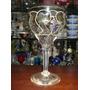 Taça Para Vinho Em Cristal Grande Pintada A Mão