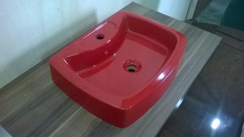 Cuba De Apoio Direto De Fábrica Vermelha  R$ 119,00 no MercadoLivre -> Cuba Para Banheiro Direto Da Fabrica
