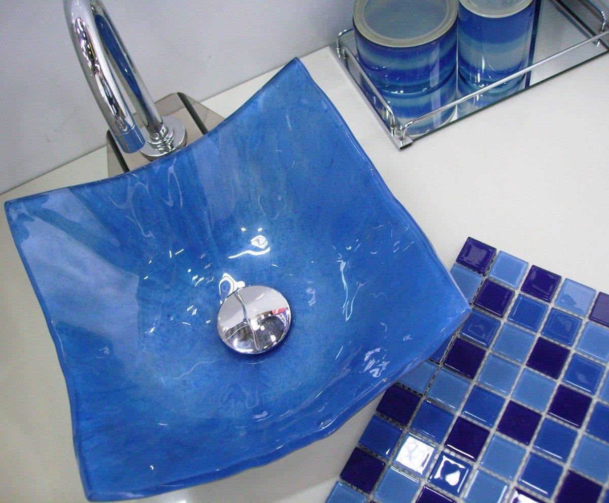 cuba de apoio vidro quadrada 30cm -> Cuba De Vidro Para Banheiro Mercadolivre
