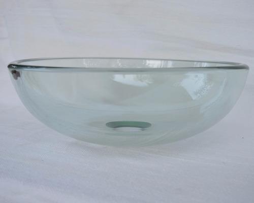 Cuba De Vidro Incolor Para Banheiro  Redonda Small  R$ 129,90 no MercadoLivre -> Cuba De Vidro Para Banheiro Mercadolivre