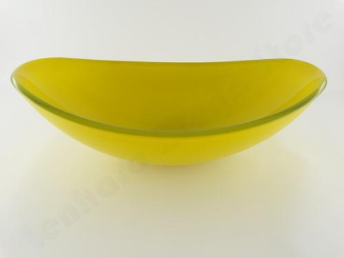 Cuba De Vidro Oval Para Banheiro E Lavabo Amarelo  R$ 219,90 no MercadoLivre -> Cuba Para Banheiro De Vidro Oval