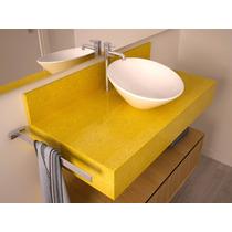 Lavatório Quartzo Amarelo Estrelar - (igual Silestone)