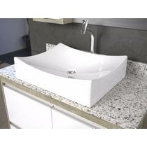 Cuba De Apoio Para Banheiro Formato Folha Branco