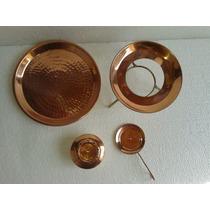 Aparelho Réchaud/fondue Cobre Nº6 4 Peças 9l Metal Arte