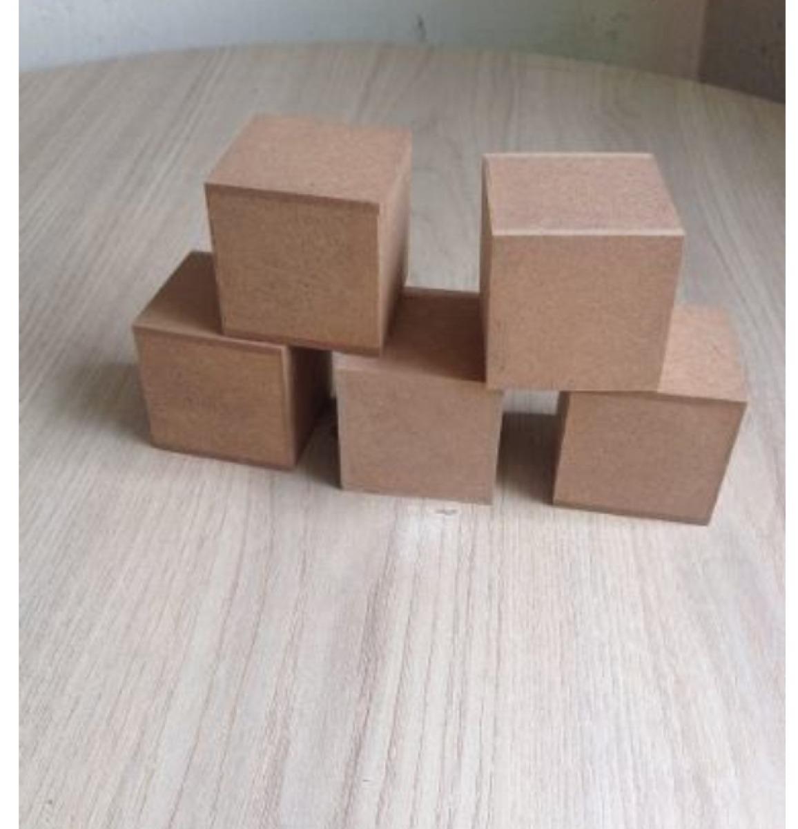 Cubo 7x7 Em Mdf Cru R$ 3 50 no MercadoLivre #45322A 1156x1200