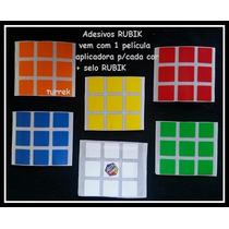 Adesivo Para Cubo Mágico Rubik Original 56 A 57 Mm 3x3x3