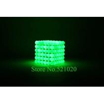 Cubo Magnético Neocube Verde Brilha No Escuro - 5mm 216 Pcs