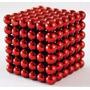 Imã Neocube Vermelho 216 Peças 3mm Neodímio Frete R$12,90