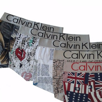 Kit 3 Cuecas Boxer Calvin Klein Zorba Estampadas S/ Costura