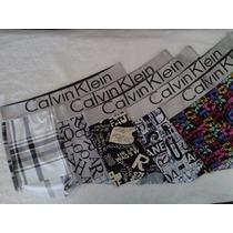 Kit 5 Cuecas Ck - Boxer Calvin Klein Estampada Países