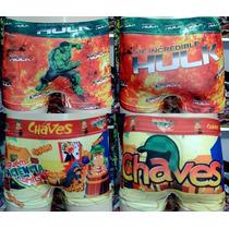 Kit Cueca Box E Calcinha Box Infantil Sublimada Frente/costa