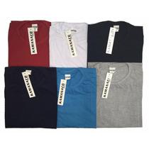 Camiseta Basica Lisa Plus Size Tamanho Grande 100% Algodão