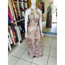 Vestido Estampado Da Marca Dimy Longo + Brinde Surpresa
