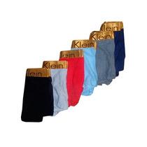Kit Com 6 Cuecas Calvin Klein Base Dourada