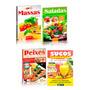 4 Livros Culinária Massas Saladas Sucos Peixes Discovery Pub
