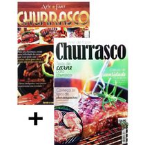 Kit 2 Revistas Arte De Fazer Churrasco Carne Picanha Receita