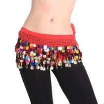 Bellydance - Lenço Para Dança Do Ventre Escama Multicor