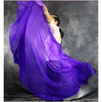 Veu De Seda Roxo 250x115cm ,dança Do Ventre