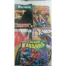 Kit 5 Gibis Hq Batman Wolverine Homem Aranha X-man