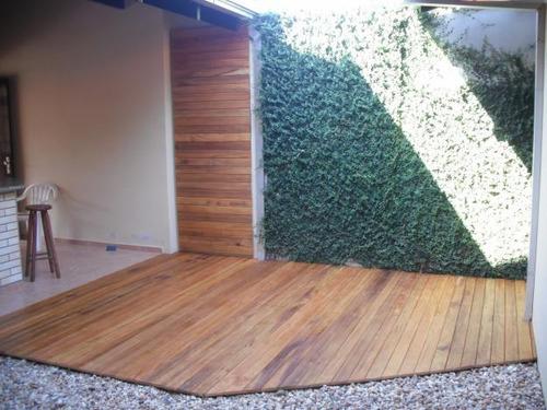 jardim deck de madeira:Deck Em Madeira De Demolição. Sob Medida. Piscina, Jardim – R$