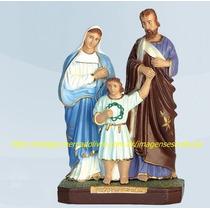 Escultura Sagrada Familia Jesus Maria José Imagem 30cm Natal