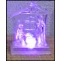 Mini Presépio - Jesus Na Manjedoura -acrílico Iluminado