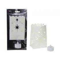 Tea Decoração Light - - Cut-out Saco Da Lanterna Do Natal