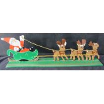 Trenó Do Papai Noel Com Renas Em Mdf - A29