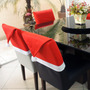 Kit Com 6 Capas De Cadeira - Gorro Papai Noel + Brinde