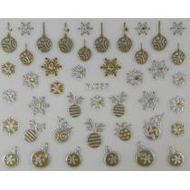 Adesivo De Unha 3d Natal - Pronta Entrega - N09