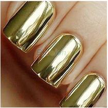 160 Adesivos Películas Para Unhas Dourado Prata Preto