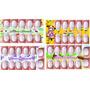 Cartelas Películas De Unhas Adesivos Unha 10 Ou 12 Unhas