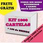 Kit 1000 Cartelas + 100 Brinde Adesivo Películas Para Unha