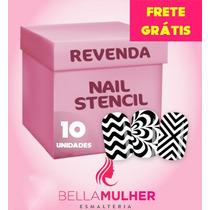 10 Cartelas Nail Stamp Zig Zag Unhas Decoradas Stencil Vinil