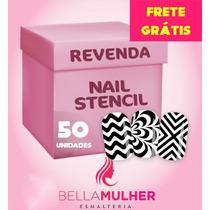 50 Cartelas Nail Stamp Zig Zag Unha Decorada Stencil Vinil