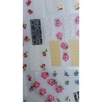Adesivos Artesanal P/ Unhas Kit Com 20 Cartelas