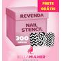 300 Cartelas Nail Stamp Zig Zag Unha Decorada Stencil Vinil
