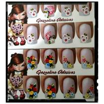 Cartelas Com Adesivos Artesanais Para Unhas Decoradas (cada)