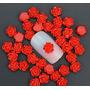 Flores - Nail Art 3d - 10 Mini Rosas Vermelhas Importadas