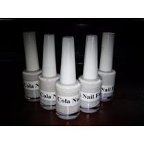 3 Frascos 10ml Cada De Cola P/ Nail Foil