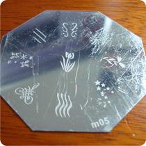 Placa De Desenhos De Carimbo Para Unhas Nail Art